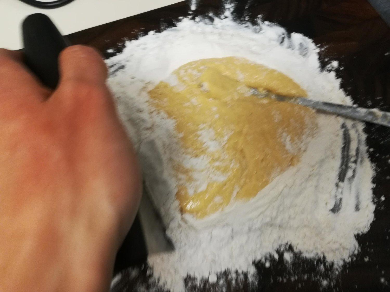 mixing flour