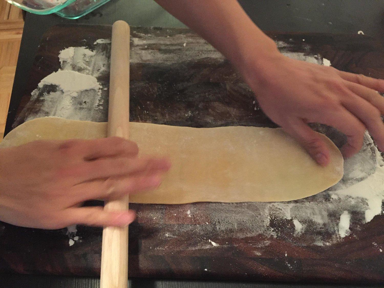 rolling flour